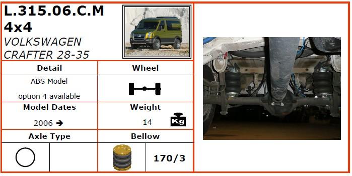 L.315.06.C.M/大众空气悬挂系统/大众空气悬挂/大众CRAFTER 28-35 4WD(2006-)-Dunlop空气悬架