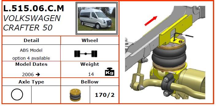 L.515.06.C.M/大众空气悬挂系统/大众空气悬挂/大众CRAFTER 50(2006-)-Dunlop空气悬架