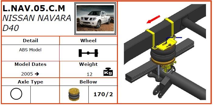 L.L200.07.C.M/三菱空气悬挂系统/三菱空气悬挂/三菱 L 200 4WD (2006-) Dunlop空气悬挂